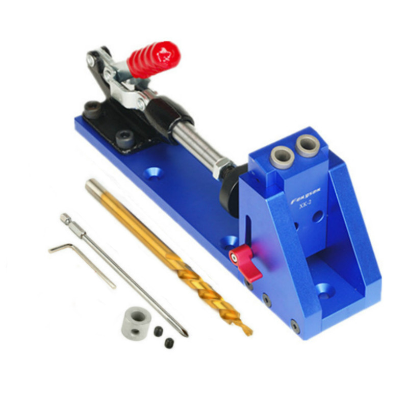 Upgraded Oblique Pocket Hole Jig Kit System w/ Step Drill Bit WoodWork Tools for Carpenter Professional tools