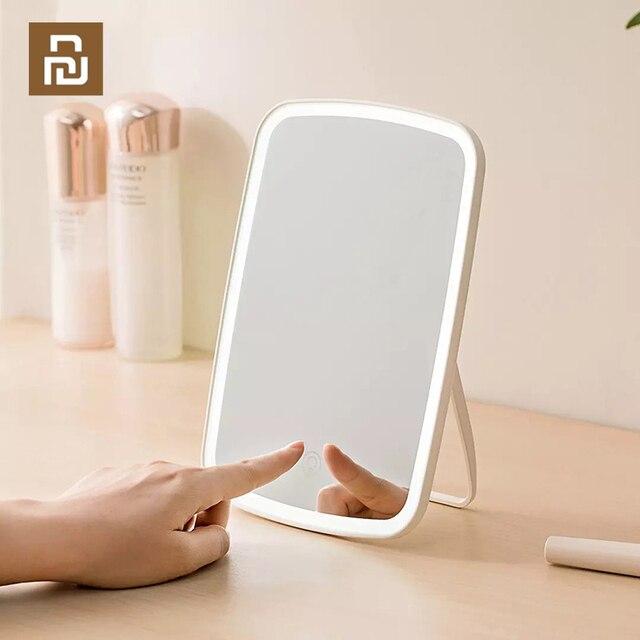 XIAOMI makyaj aynası LED kozmetik ayna dokunmatik Dimmer anahtarı ile pil kumandalı standı masa üstü banyo yatak odası seyahat