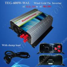 Vento Power Grid Tie Inverter 600 W, 3 Fase di Griglia Tie Inverter Ac 10.5 30 V a 100 V, 110 V, uscita 120 V Ac Puro Inverter a Onda Sinusoidale