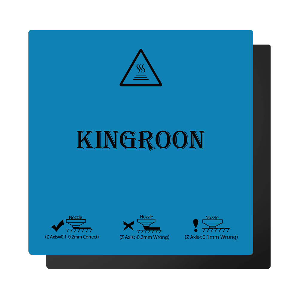 Kingroon 180*180mm Flexible Magnetic 2 Layer Print HotBed Sticker Build Surface Tape for 3D Printer Build Platform Heated Bed