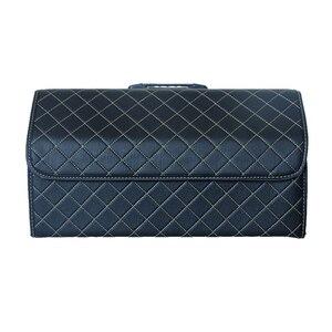Image 2 - Organizador de maletero de coche, caja de almacenamiento, bolsa de herramientas de basura automática, de cuero PU, plegable, grande, almacenamiento de carga, remolque, accesorios para coche