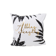 fashionable trendy home cushion covers 45*45cm no inner golden hot stamping leaves pattern cover for sofa X29