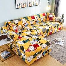 Moderne Elastische Inclusive Sofa Cover Voor Woonkamer Chaise Lounge Antislip L Vorm Hoek Nodig 2 Leuke Kitten patroon