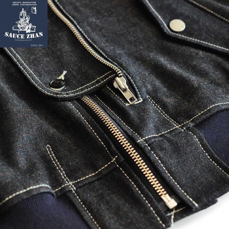 SauceZhan MA1 kurtka dżinsowa tęczowa kurtka dżinsowa w stylu Vintage bawełniana kurtka dżinsowa kurtka Selvedge surowa kurtka dżinsowa mężczyzn