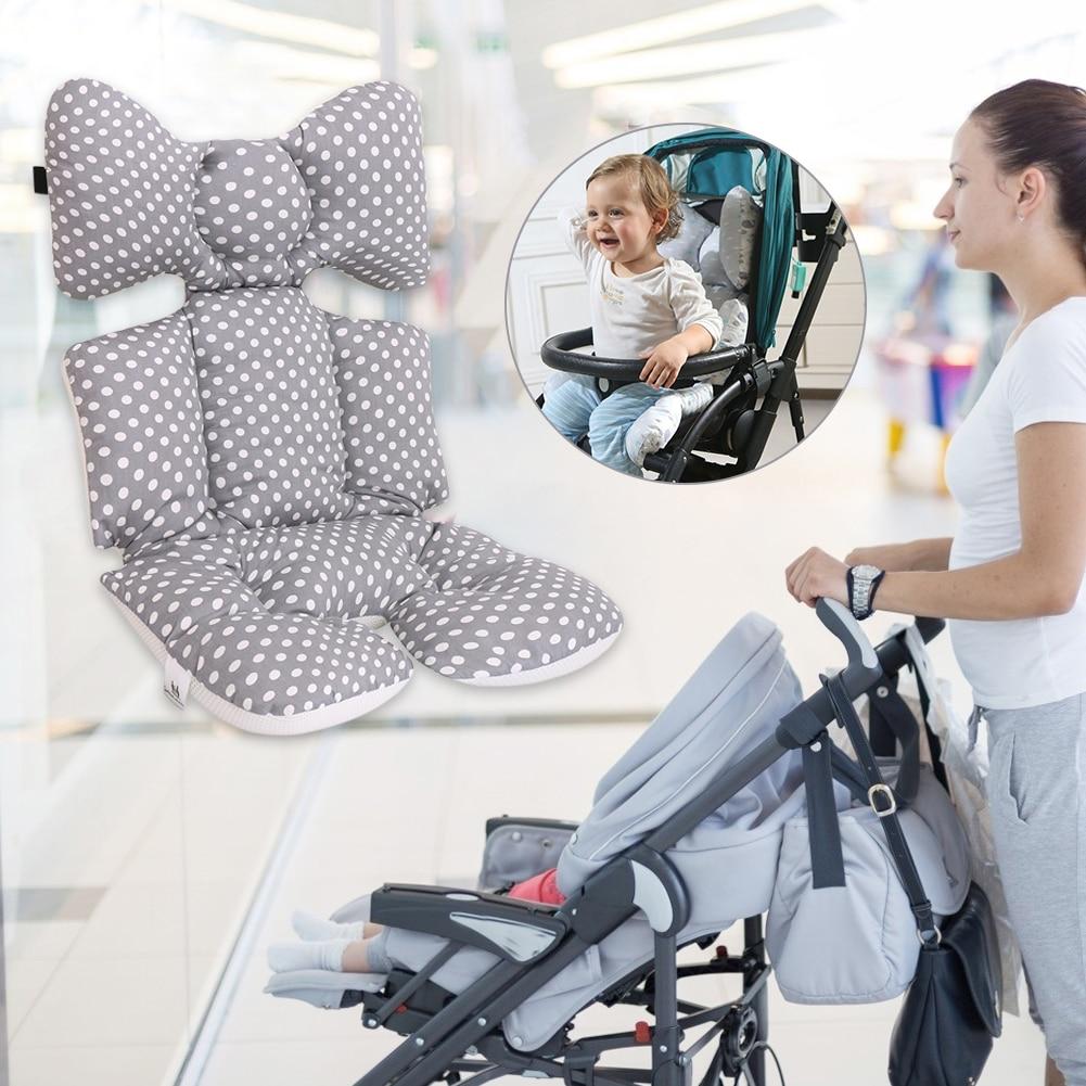 Baby Stroller Winter Thicken Warm Cushion Pad Car Seat Trolley Mattresses Seat Cushion Thick Warm Seat Pad