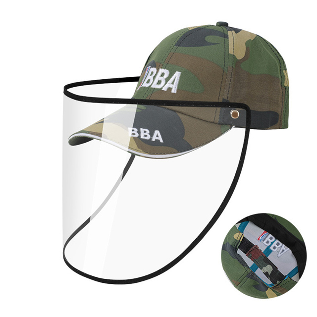 Eyes Protection Hat with Anti-saliva Face Cover Mask Baseball Cap Dustproof Protective Cap Adjustable Face Shield Safe Isolation