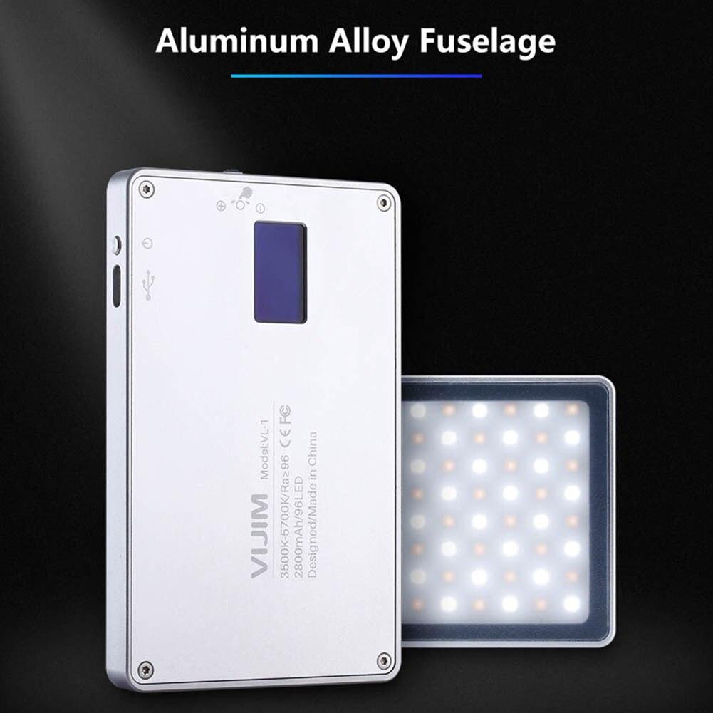 Nouvellement Mini téléphone lumière LED O LED écran 96 perles magnétique en alliage d'aluminium lampe Portable pour Selfie 999