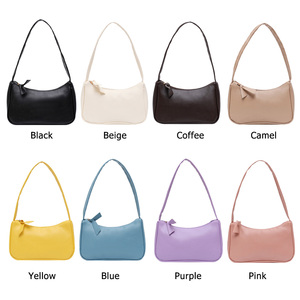 Pure Color Zipper Women Bags 2