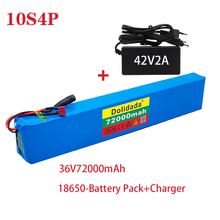 2021 new 18650 battery pack 10s4p 36 V 72AH high power 600 W, suitable for electric bicycle lithium battery with charger sales