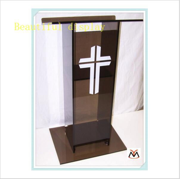 FREE SHIPPING Popular Transparent Knockdown Acrylic Lectern For Church