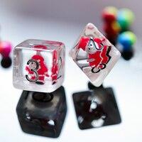 25mm Giant 7 Pcs Santa Claus DND Dice D&D Dice Set D4 D6 D8 D10 D% D12 D20 Polyhedral Games Dice Set for MTG RPG