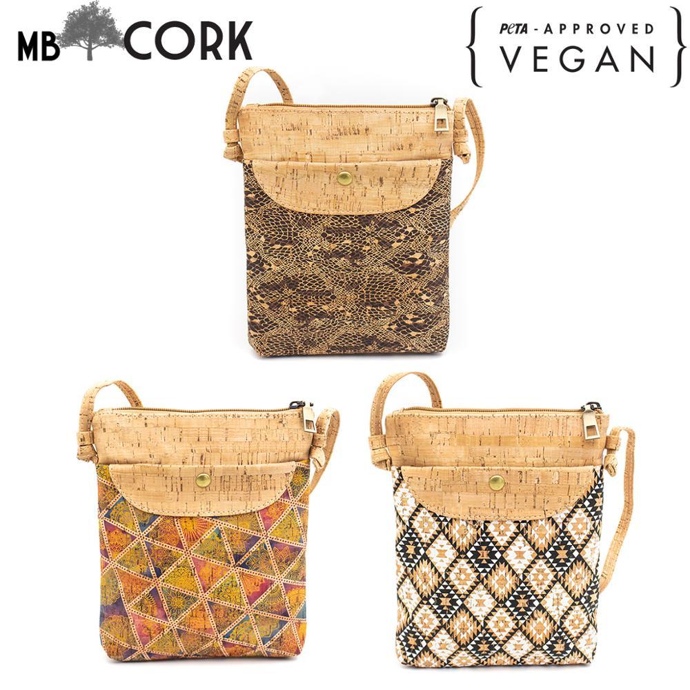 Natural Cork With Pattern Small Crossbody Purse Bag BAG-602
