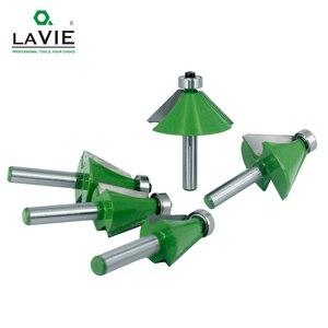 Image 3 - LAVIE 5pcs 8mm 샹크 모따기 라우터 비트 11.25 15 22.5 30 45도 밀링 커터 Woodworking 기계 MC02111