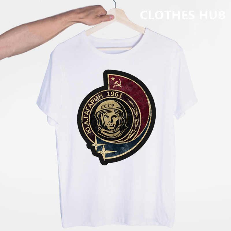 Yuri Alekseyevich Gagarin T-shirt O-neck Lengan Pendek Musim Panas Kasual untuk Pria dan Wanita Tshirt