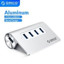 ORICO yüksek hızlı 4 port USB 3.0 HUB alüminyum USB Hub Mini Splitter taşınabilir Hub dizüstü PC bilgisayar 1M veri kablosu