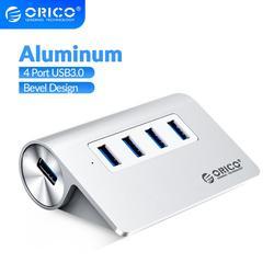 ORICO High Speed 4 ports USB 3.0 HUB Aluminum USB Hub Mini Splitter Portable Hub for Laptop PC Computer with 1M Data Cable