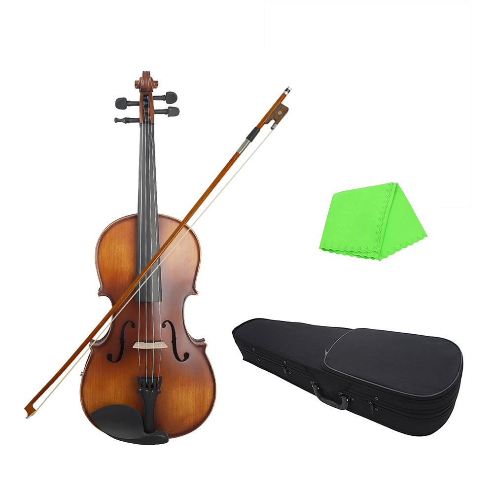 16inch Electric Viola EQ Spruce Wood with Bow Cleaning Cloth Carry Box for Adults Children Beginner Violin instrument