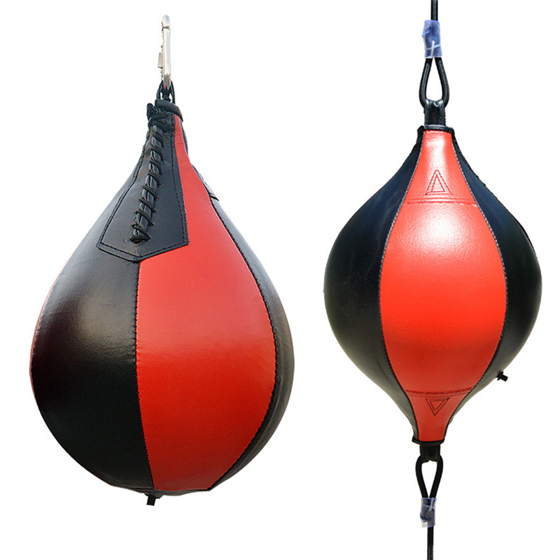 Inflatable Punching Bag Professional Boxing Speed Ball Boxing Hanging Pear Shape PU Speed Ball Fitness Training Ball Sand Bag T