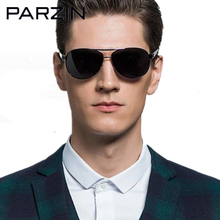 PARZIN Cool Men Polarized High Quality Brand Design Sunglasses Oversized Male Sunglasses Driver Sun Glasses Shades Black