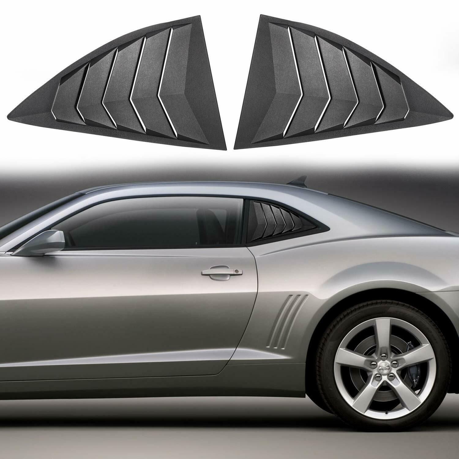 Chuang Qian Side Window Scoop Louvers ABS Window Visor Cover Sun Rain Shade Vent for 2010-2015 Chevy Camaro LS LT RS SS