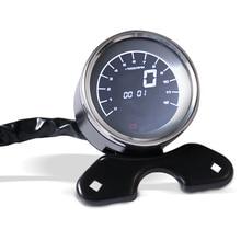 Custom אופנוע 12V LED LCD דיגיטלי מד מרחק מד מהירות טכומטר עבור הארלי הונדה ימאהה סוזוקי קפה רייסר Bobber סיור