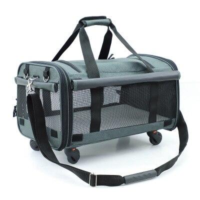 M8 Pieghevole 20 Kg di Medie E Grandi Dimensioni Pet Trolley Bag Traspirante Pet Rimorchiatore Fuori Cucciolo Gabbia Del Cane Del Gatto Traspirante Carrier - 3