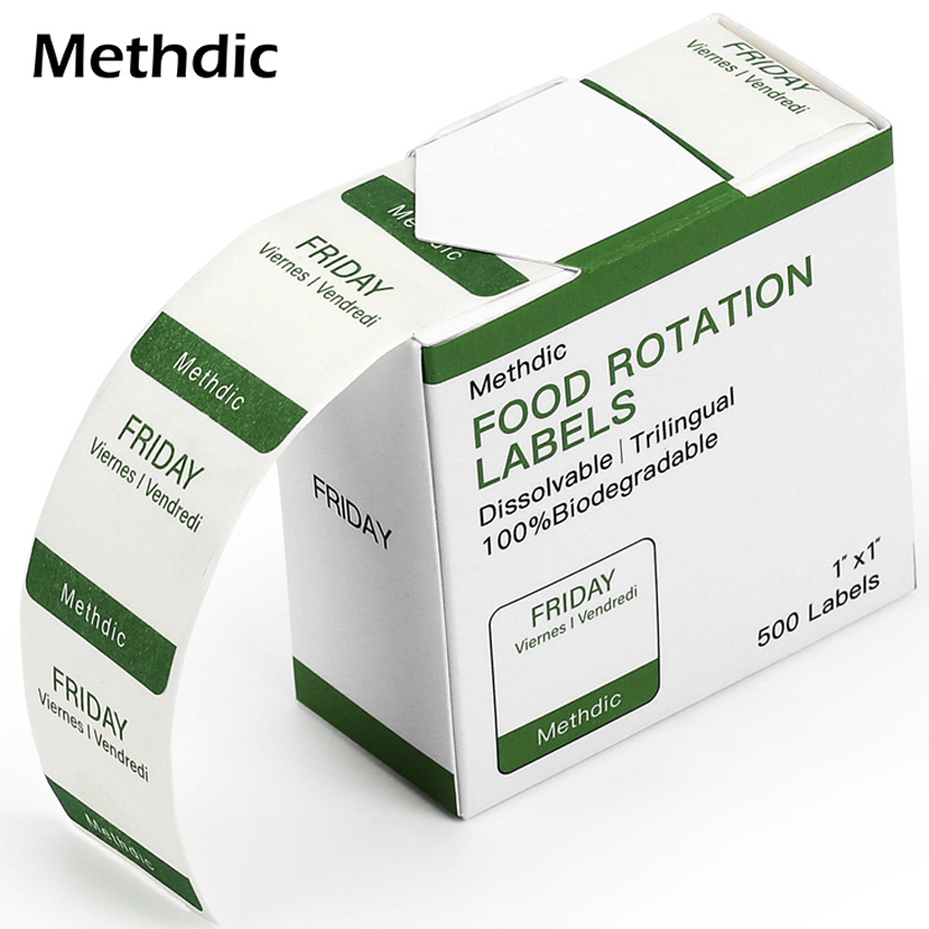 Methdic  100lables/box Custom Color Dissolvable Labels 1