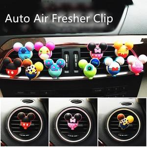 Car Perfume Clip Air Freshener Auto Vent Fragrance Cartoon Solid Parfum Wholesale Cute Mouse Automobile Accessories Lemon Scent