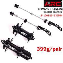 Bicycle Hubs Sealed Bearing MTB Mountain Bike Hubs Quick Release set 32 28 36Holes Disc Brake QR 4 Bearings 4 Pawls 399g  8 11S