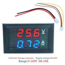 Мини цифровой вольтметр амперметр dc 100 в 10a Панель Ампер