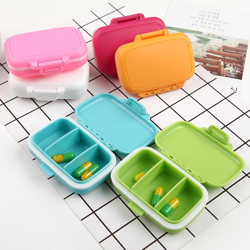 1 X Portable Slots Seal Folding Pill Cases Jewelry Candy Storage Box Vitamin Medicine Pill Box Case Container Wheat Stalks