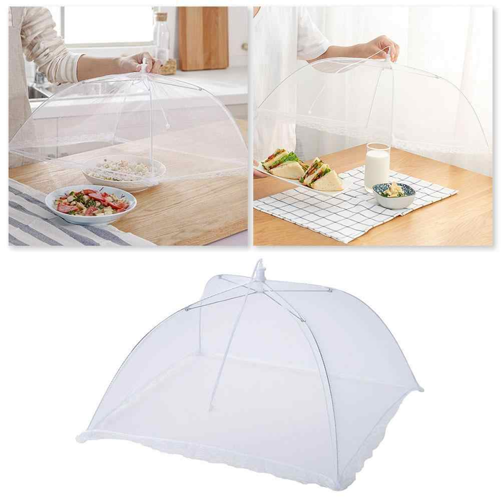 1Pc Up Mesh Screen Voedsel Covers Witte Vierkante Grote Opvouwbare Tent Insect Paraplu Picknick Dome Protector Tafel Eten Cover netto Y3C0