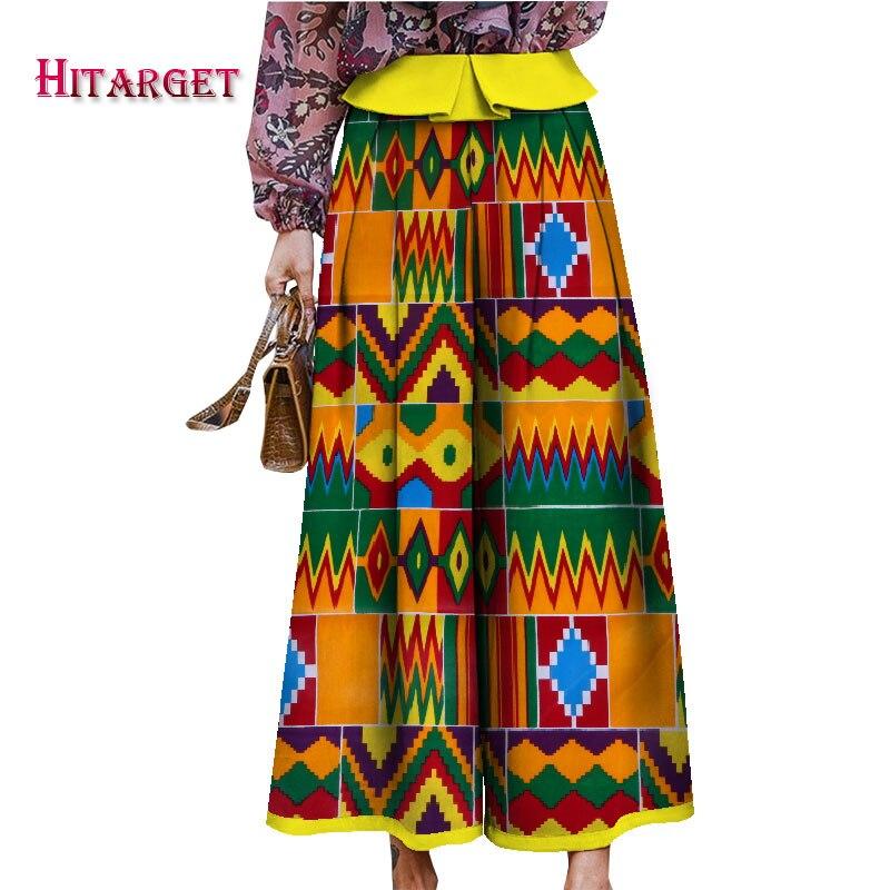 2019 automne femme africaine vêtements ankara cire imprimer jupes Bazin cire imprimer afrique jupe Dashiki vêtements africains WY4977