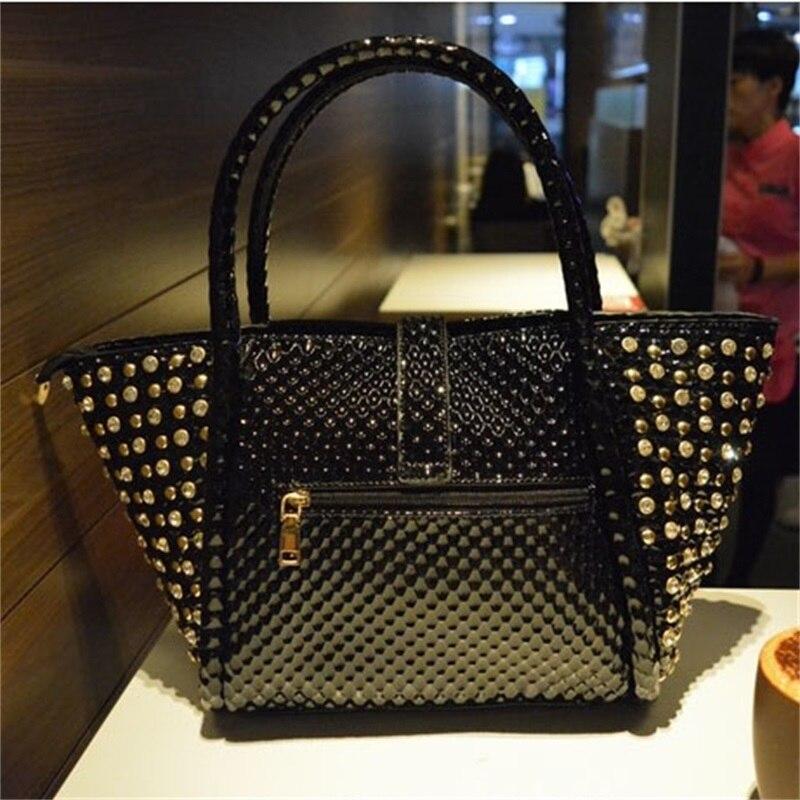 Women's Rhinestones Luxury Handbags 2020 Branded Fashionable Diamond Shoulder Bag Of Women Robbers Imitation Diamond Big Handbag