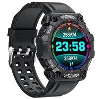 Reloj inteligente deportivo FD68, reloj inteligente con control del ritmo cardíaco y de la presión sanguínea, resistente al agua y con pantalla curva # BL1 2021