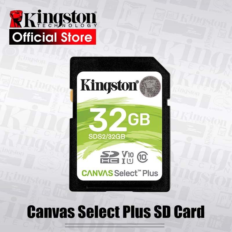 Kingston Canvas Select Plus-tarjeta de memoria SD U3/U1 de 128GB, 32GB, 128GB, 64GB, 256GB, 512GB, para HD 1080p y 4K
