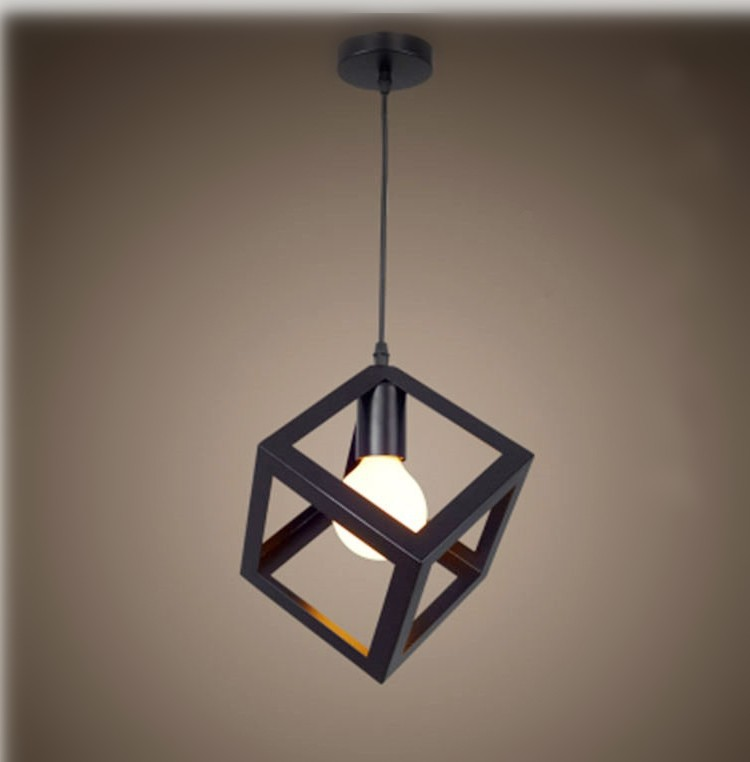 Northern European Style Creative Geometry Chandelier Single head Restaurant Chandelier Simple Cool Living Room Clothing Store Fr Downlights     - title=