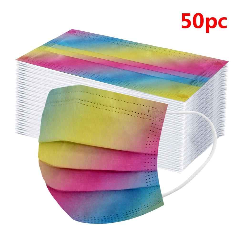 50pcカラフルな使い捨て顔のmaksのため大人の良質と低価格顔のmaks暖かいスカーフマフラーヘッドバンドバンダナ