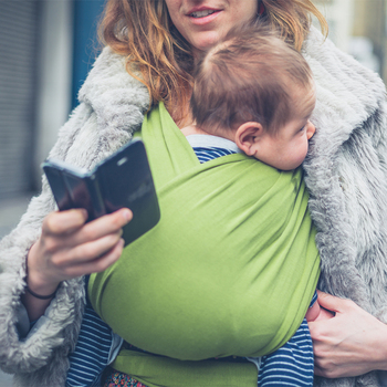 All-in-1 Stretchy Baby Wraps Baby Sling Infant Carrier Nursing Cover Hands Free Baby Wrap Postpartum Belt Great Baby Shower Gift 9