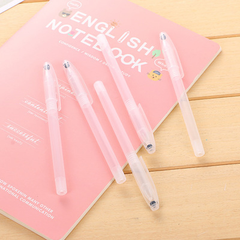1pcs Transparent Pen Case Novelty Stationery Transparent Pen Kawaii Universal Neutral Gel Pen Case Kawaii School Supplies