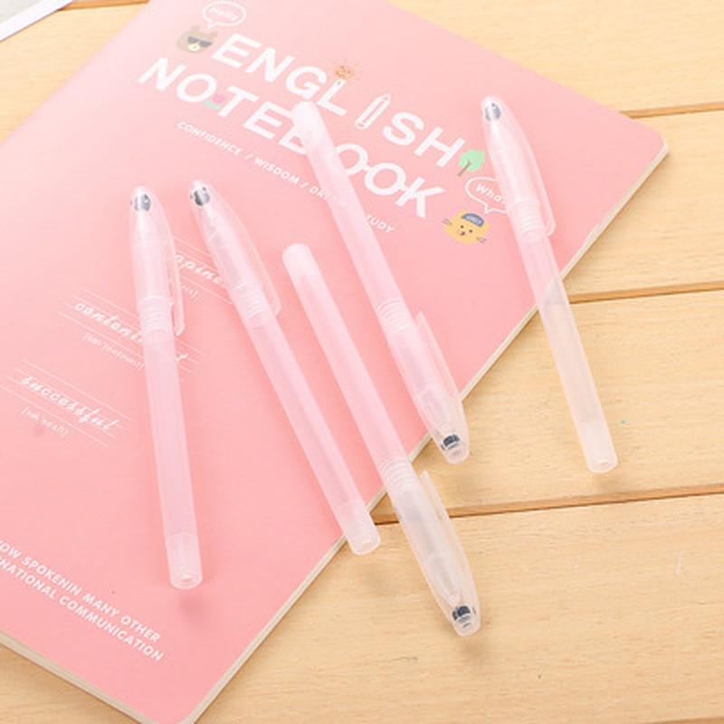 1pcs Transparent Pen Case Novelty Stationery Transparent Pen Kawaii Universal Neutral Gel Pen Case Kawaii School Supplies