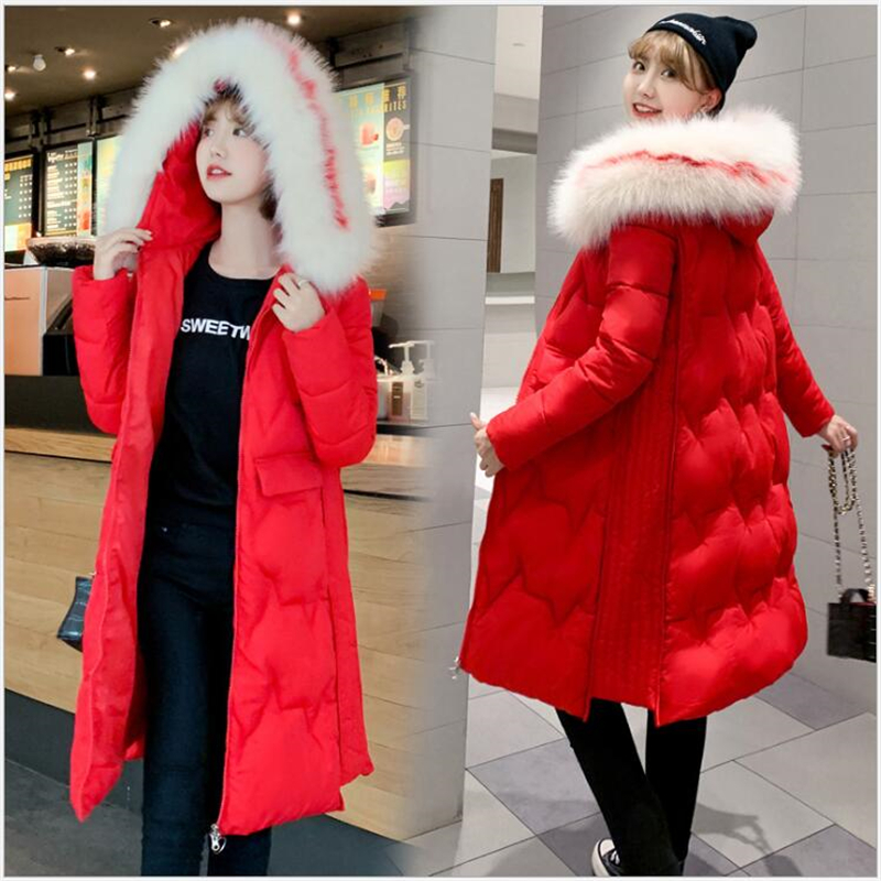 Plus size Winter Jacket Women Big Fur Collar Hooded coat female Warm Long Thicken Cotton   parkas   women 3XL Outwear R259