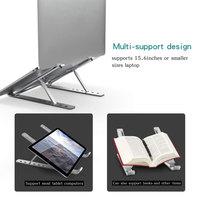 Laptop Stand Height Adjustable Aluminum Laptop Riser Holder Portable Ergonomic Notebook Height Adjustable