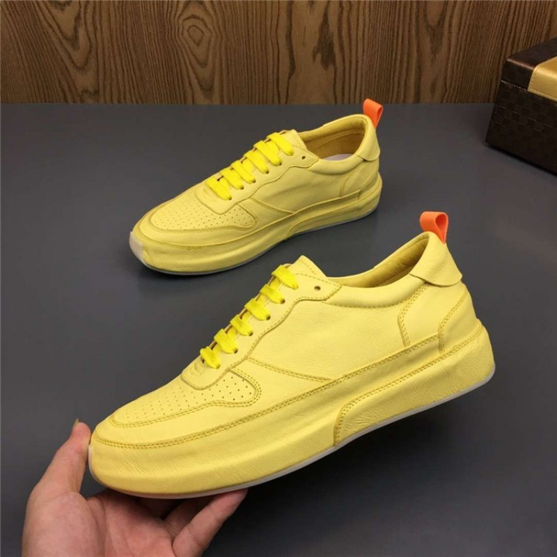 Brand Designer Mens 2019 New Genuine Leather Shoes Lace Up Casual Sneakers Flats Trainers Man Footwear High Street Joggers Shoes