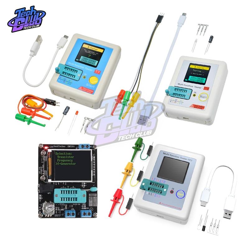 TC-T7-H di Alta Precisione Transistor Tester Diodo Triodo di Capacità ESR MOS/PNP/NPN LCR MOSFET TFT Schermo LCD Tester multimetro