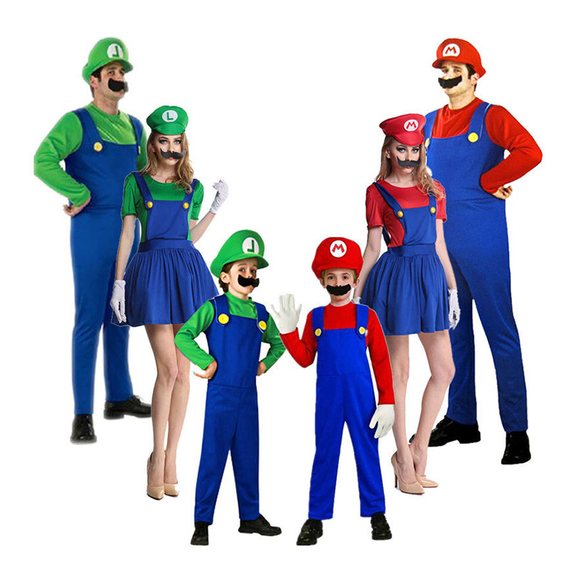 Self Produce Cosplay Super Mario Costume Adult Or Kids Halloween