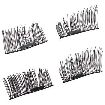 YSDO 1 par magnético pestañas largo cabello Natural visón pestañas 3D visón falso pestañas 100% dramático pestañas 1 caja magnética pestañas