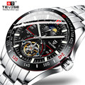Бренд Tevise роскошный механический автоматический часы с турбийоном модные мужские часы из нержавеющей стали для мужчин Relogio Masculino подарки