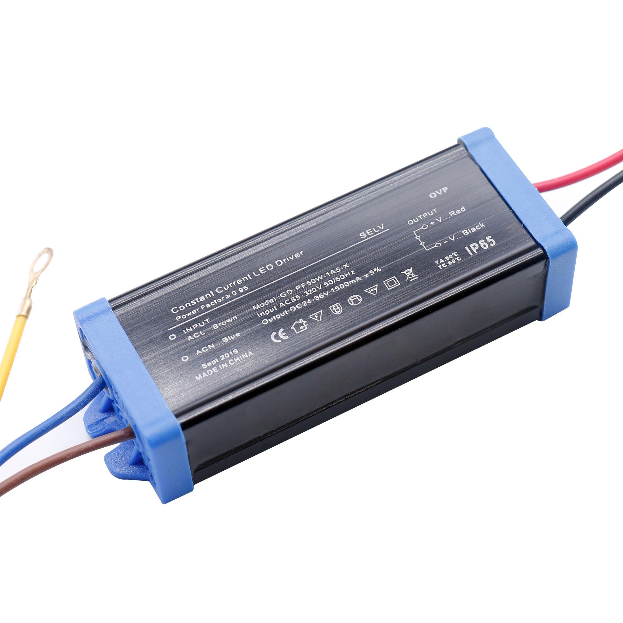 50 Вт 30 Вт, 20 Вт, хит продаж Водонепроницаемый IP65 светодиодный драйвер AC220V Питание постоянного тока постоянное напряжение DC24-36V светодиодный ...