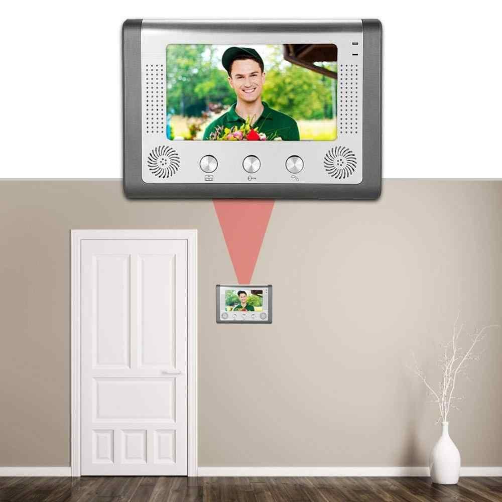 funci/ón de desbloqueo electr/ónico 3 monitores 7 Pulgadas LCD Videoportero Sistema de interfono C/ámara de Puerta de Acceso Inteligente con intercomunicador Manos Libres Lecxin Timbre de Video UE